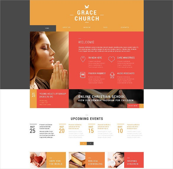 religious organization wordpress bootstrap theme