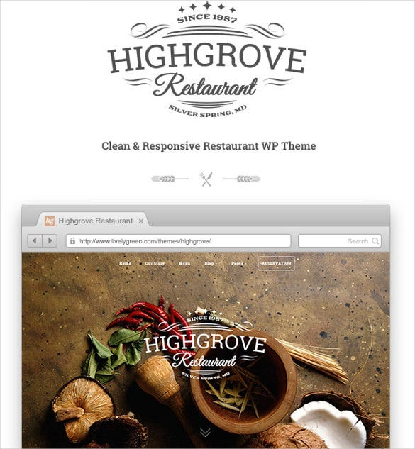 hg restaurant responsive wordpress bootstrap theme