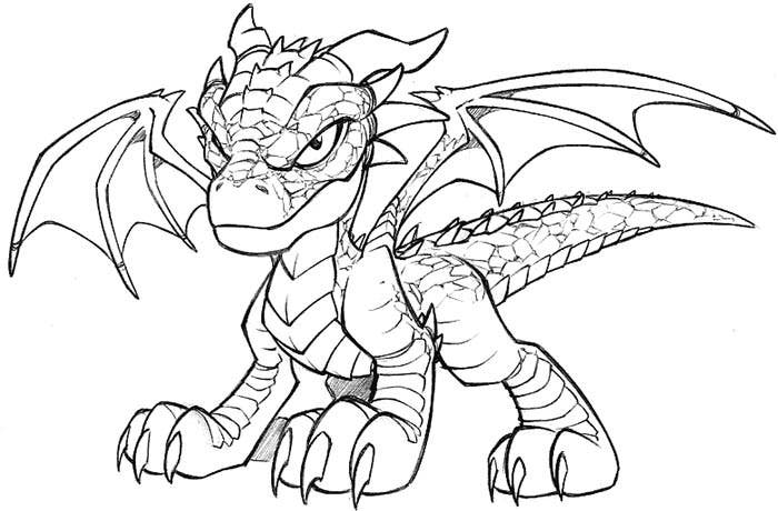 Dragon Wearing Mask Coloring Page