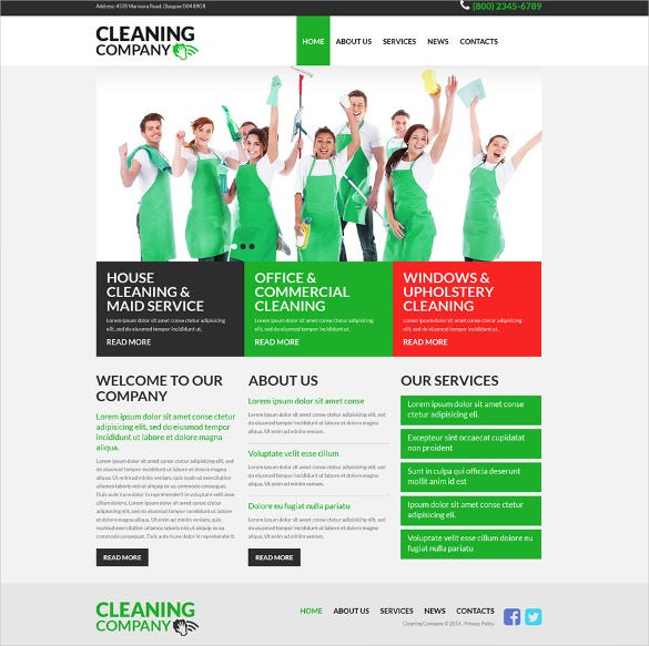 cleaning services responsive joomla bootstrap template