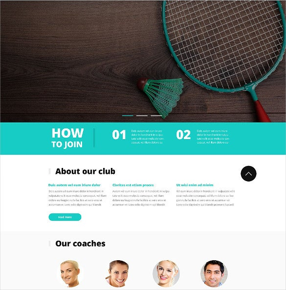 badminton responsive bootstrap website template