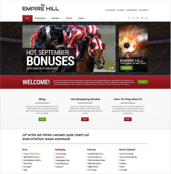 online betting responsive bootstrap website template
