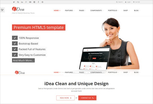 51 business bootstrap themes templates free premium templates simple business responsive bootstrap website template wajeb Images