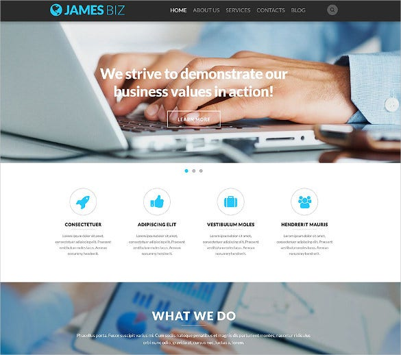 sample business responsive bootstrap template