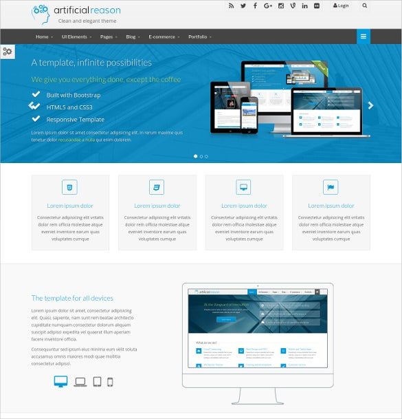 e commerce business bootstrap template1