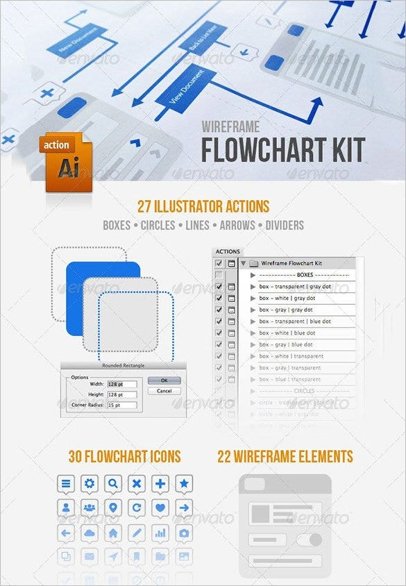 wireframe flowchart kit template download1