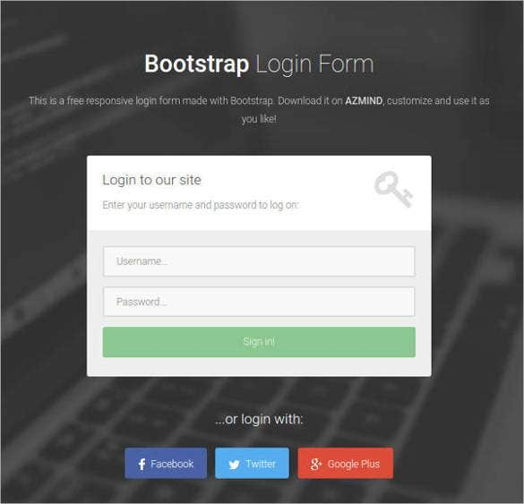 login web page template free download koni polycode co