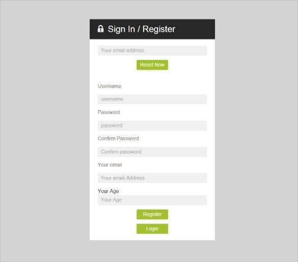 29 remarkable html css login form templates download for Php login templates free download