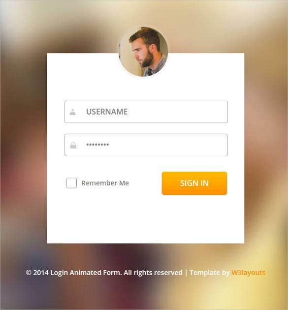 29 remarkable html css login form templates download for Login page in asp net template