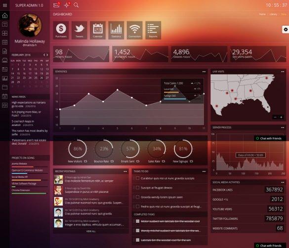 admin responsive bootstrap dashboard template1