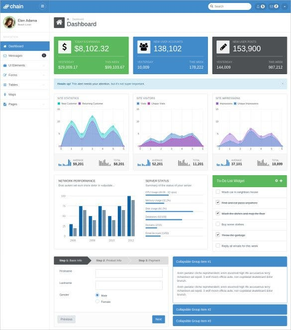 chain responsive bootstrap 3 admin template11