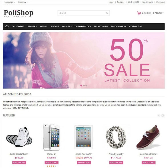 Download free and responsive ecommerce templates | lemonstand.