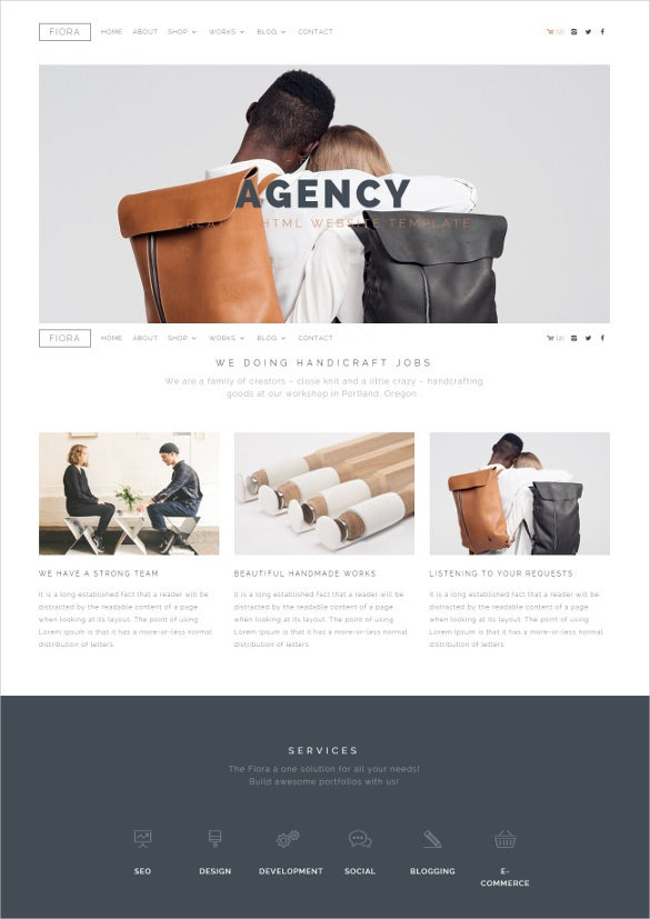 multipage onepage html5 website template