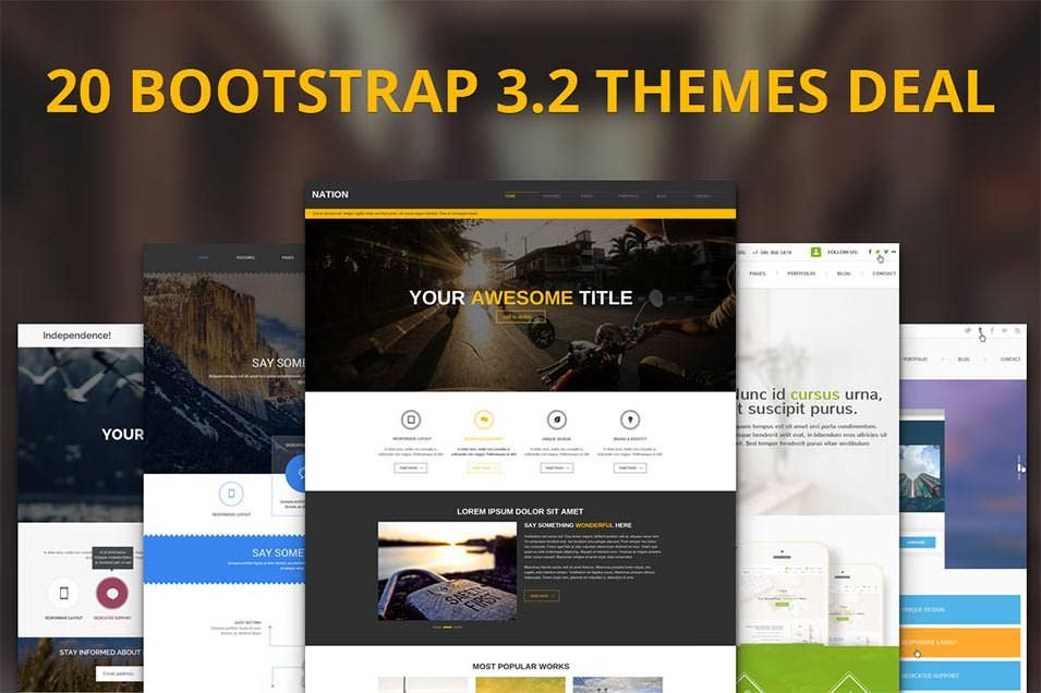35  best bootstrap design templates  u0026 themes