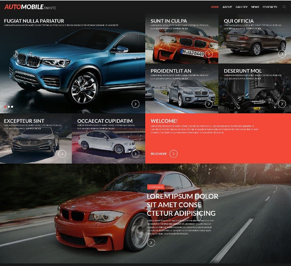 automobile fan site website template