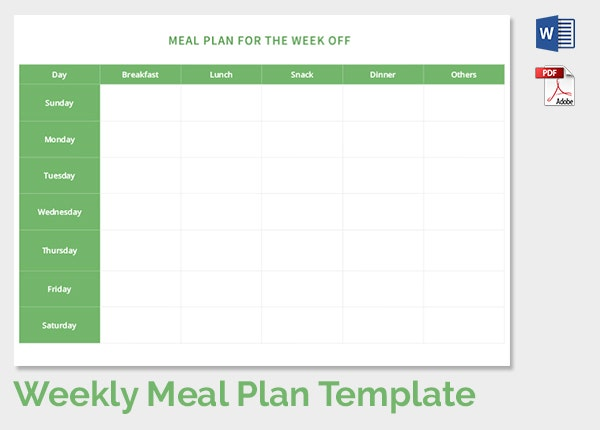 Weekly Meal Planning Template Download