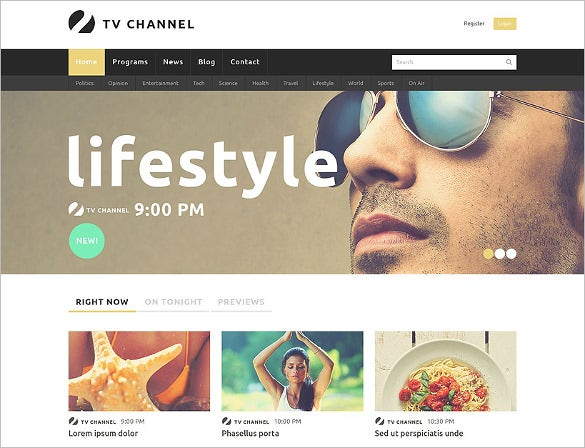 online tv channel joomla template2