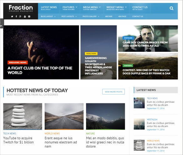 multipurpose news magazine html theme