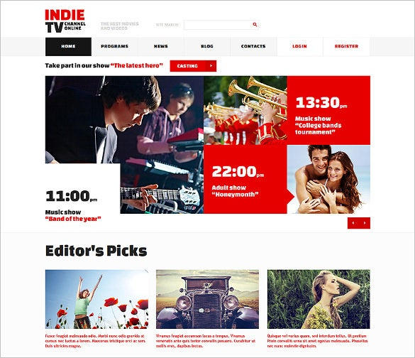 premium news magazine html5 themes