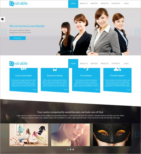 html5 business template