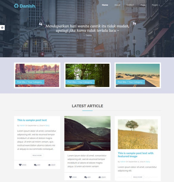 Personal Bootstrap Blog Website Template