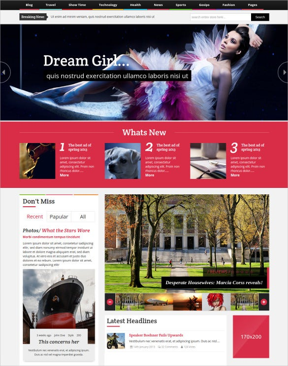 ultimate magazine responsive html template