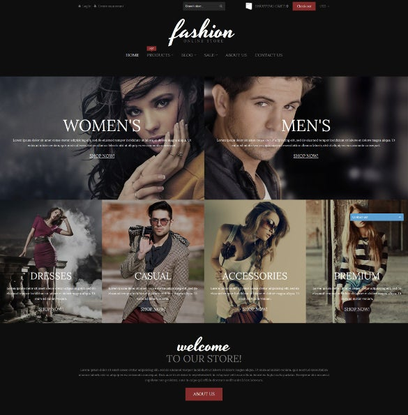 fashion online store bootstrap shopify blog theme