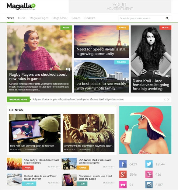 magazine news business blog html bootsrap template