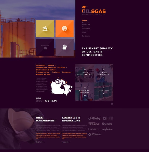 gas and oil trading joomla bootstrap blog template