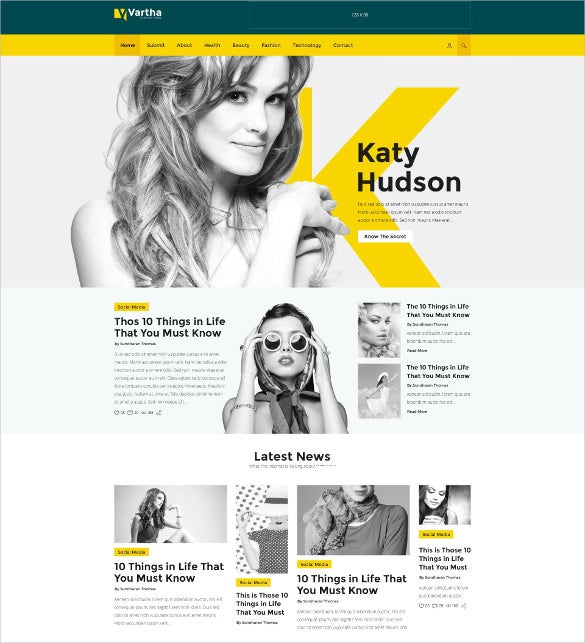 vartha html5 magazine blog bootsrap template