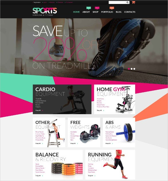 fitness equipment woocommerce bootstrap blog theme