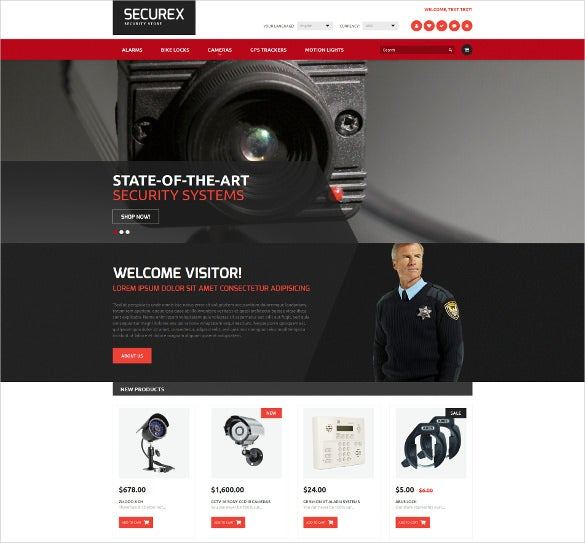 security products store magento boostrap blog theme