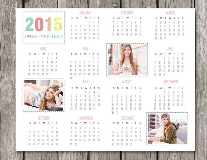 35 Best Photo Calendar Templates 2015 Designs Free Premium