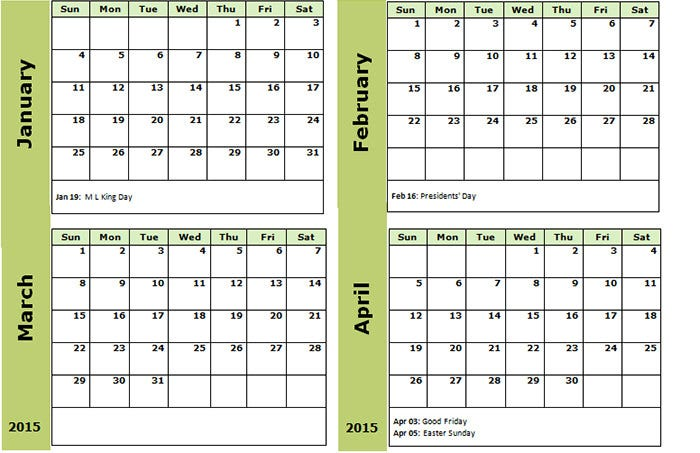 Sample Monthly Calendar Calendar Template In Abstract Style