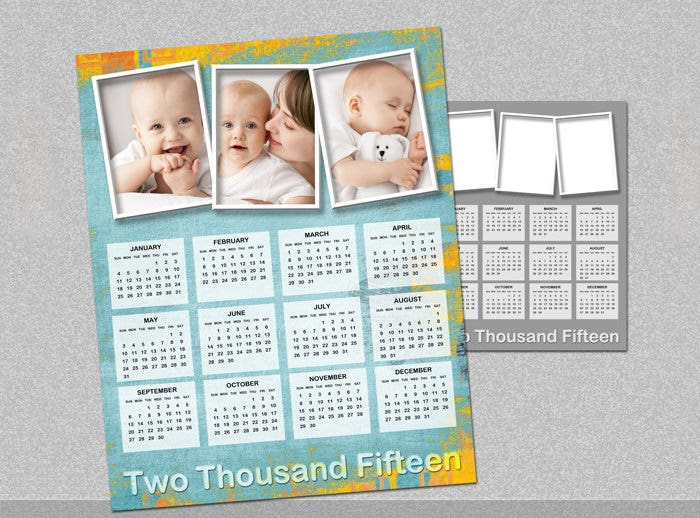 2015 annual photo calendar template