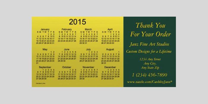 2015 business calendar