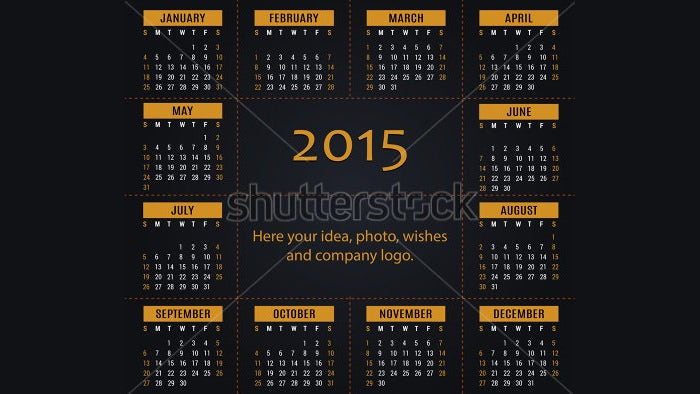2015 calendar for office and private use