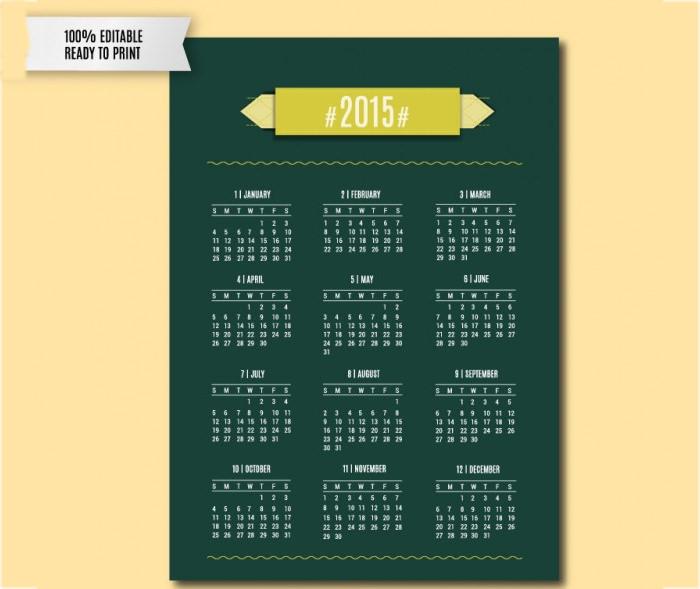 25+ Best Editable Calendar Templates & 2015 Designs | Free & Premium ...