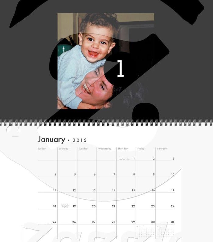 2015 easy 1 to 12 create your own photo calendar1