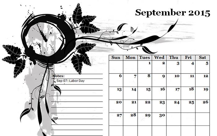 2015 monthly calendar landscape 5