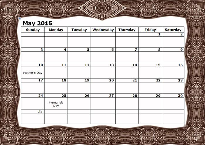 2015 monthly calendar landscape09