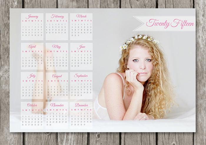 2015 photo calendar template