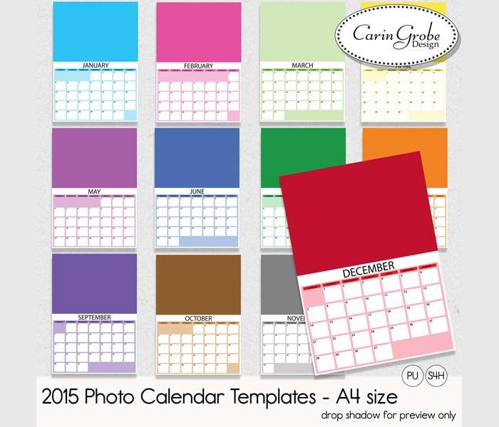 2015 photo calendar templates1