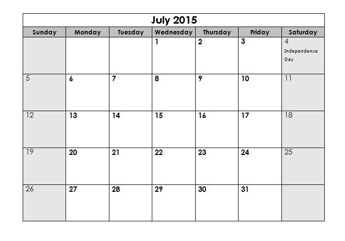 2015 sun us holidays landscape