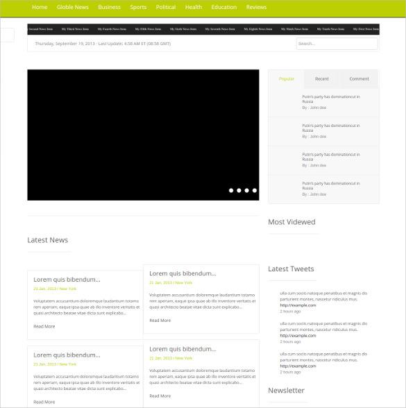 37 bootstrap blog themes templates free premium templates. Black Bedroom Furniture Sets. Home Design Ideas
