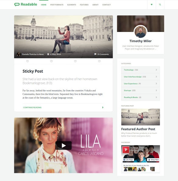minimal magazine bootstrap blog html template