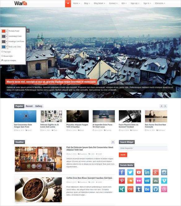 news magazine bootstrap blog site template