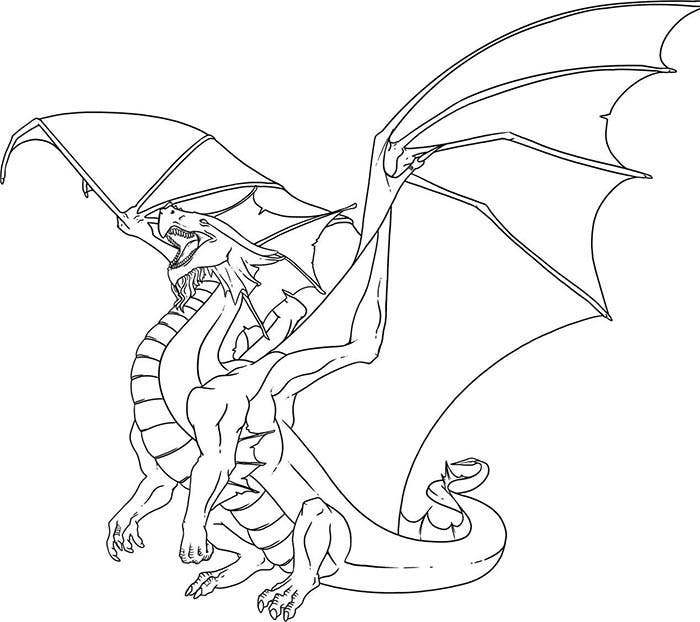 It is a picture of Exhilarating Dragon Template Printable