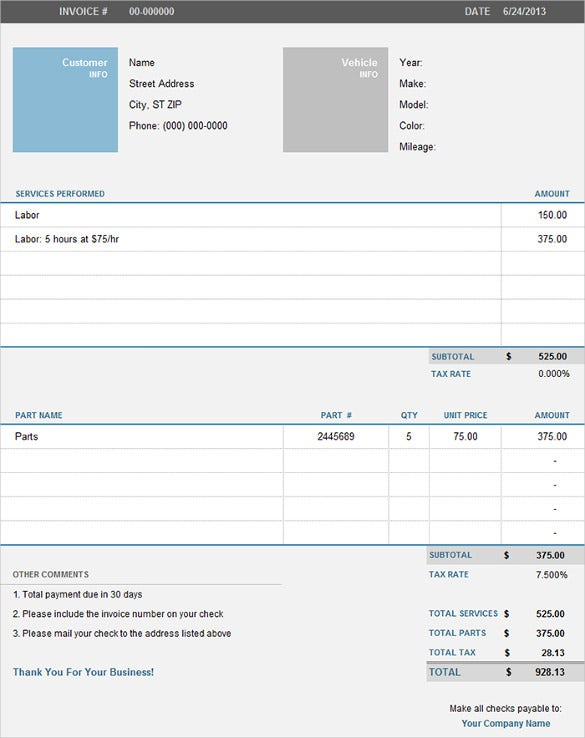 Free Excell Invoice Pertaminico - How to design an invoice in excel