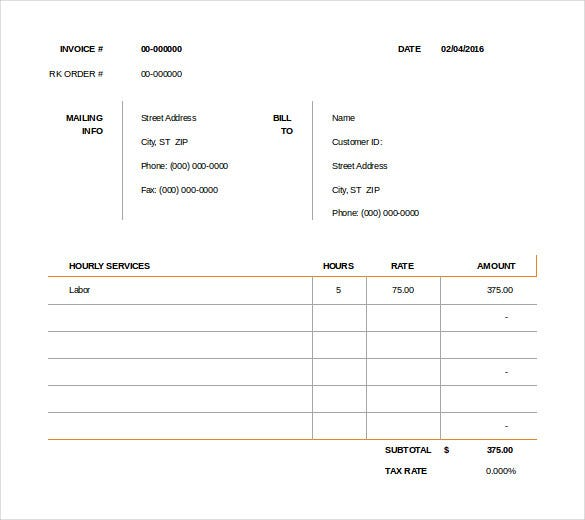 consult invoice template
